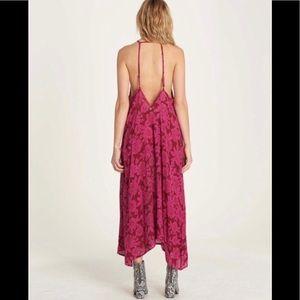 Billabong Rose Crepe Backless Maxi Sundress